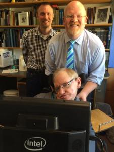 Brett Bigham and Mike Turay Meet Dr. Stephen Hawking