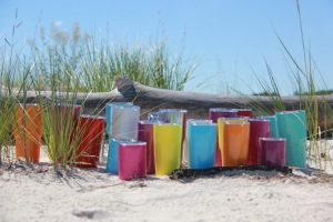 Take MYCREW Tumblers to the Beach