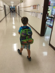 Trying Not to Cry as He Walks Himself to Kindergarten