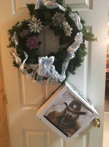 My kids' zombie targets hijacked my Christmas decor
